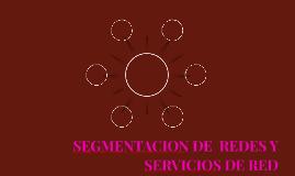 SEGMENTACION DE  REDES Y SERVICIOS DE RED