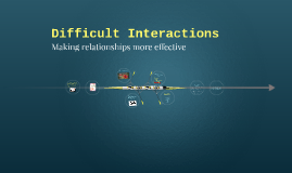 Difficult Interactions