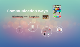 Comunication ways.