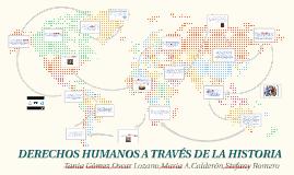 DERECHOS HUMANOS A TRAVÉS DE LA HISTORIA