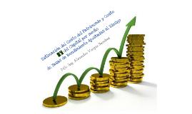 Estimacion del costo del patrimonio y costo del capital por medio de tasas de rendimiento ajustadas al riesgo