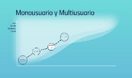 Munusuario y Multiusuario