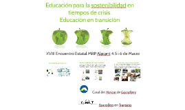 Educación para la sostenibilidad en tiempos de crisi.Educaci