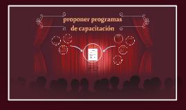 proponer programas de capacitacion