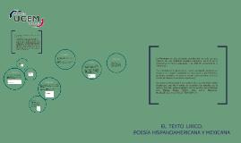 El texto lírico; poesía hispanoamericana y mexicana