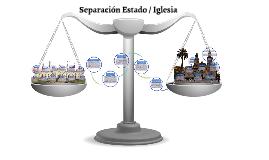 Separación Estado e Iglesia