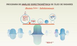 PROGRAMA DE ANÁLISE ESPECTROMÉTRICA DE ÓLEO DE RADARES