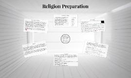 Religion Preparation