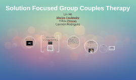 Solution Focused Couples