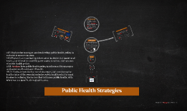 Public Health Strategies