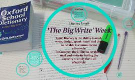 The Big Write Week