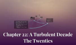 Chapter 21: A Turbulent Decade