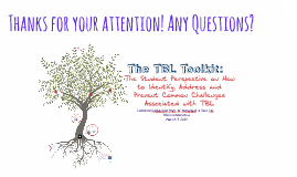 The TBL Toolkit: The Student Perspective on How to Identify,
