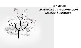 Copy of Materiales de restauración aplicación clínica