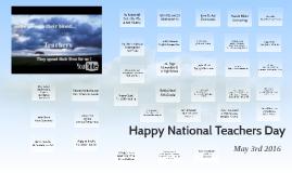 Happy National Teachers Day