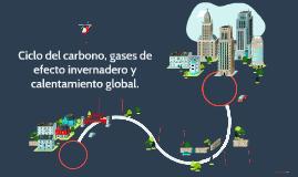 Ciclo del carbono, gases de efecto invernadero y calentamien
