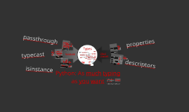 Python: As much typing as you want