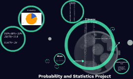Probability and Statistics Project