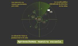 Copy of Remodelación del Área de trabajo para Educación Física