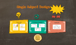 Copy of Single Subject Design