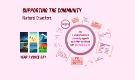 Supporting the Community - Natural Disasters