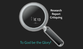 Copy of Research Critiquing