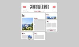 CAMBRIDGE PAPER