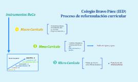 Bravo Páez - Reformulación curricular