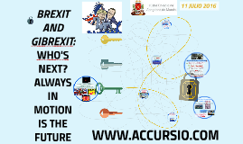 BREXIT AND GIBREXIT: WHO'S NEXT? ALWAYS IN MOTION IS THE FUT