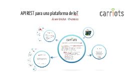API REST para una plataforma de IoT 2014