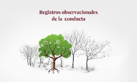 Registros de la conducta