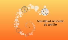 Movilidad articular de tobillo