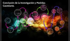 Conclusión de la investigación y Medidas cautelares.