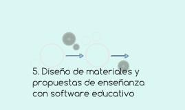 Diseño de materiales y propuestas de enseñanza con software