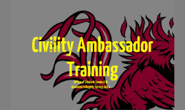 Civility Ambassador Training