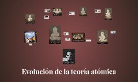 Evolución de la teoría atómica