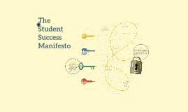 The Student Success Manifesto