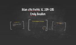 Bilan d'Activités 3C 2014-2015