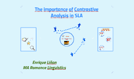 The importance of Contrastive Analysis in TS