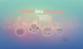 Same Sex Marriage