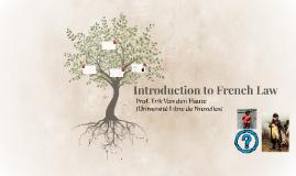 Copie de French law introduction