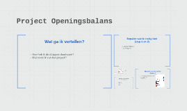 Project Openingsbalans