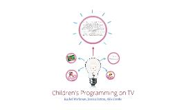 Children's Programming on TV