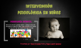 Intervención psicológica en niños