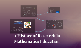A History of Research in Mathematics Education