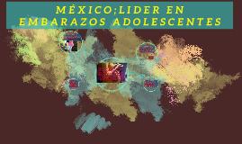 México; lider en embarazos de adolescencia