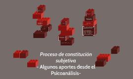 Proceso de constitución subjetiva