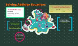 Solving Addition Equations (algebra)