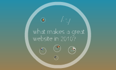 What makes a great website in 2010?