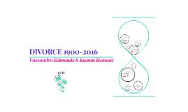DIVORCE 1900-2016